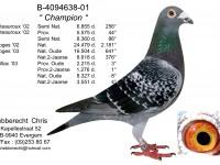 Chris Hebberecht pigeon BE01-4094638